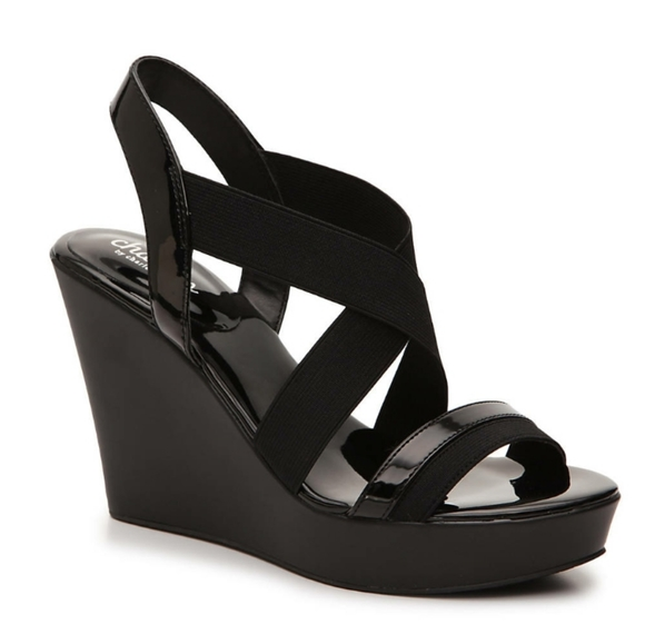 Charles David Shoes - Charles David Pat Wedge Sandals